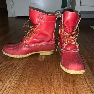 L.L. Bean Shoes - Red LL Bean Boots